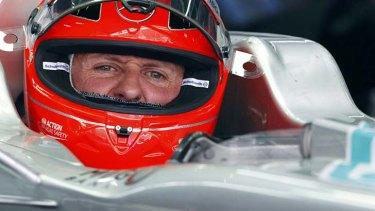 Michael Schumacher in Korea, 2012.