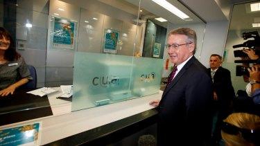 Core values: Treasurer Wayne Swan at the CUA.