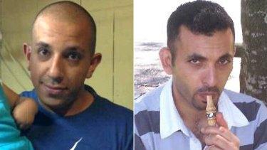 Shot dead ... Bachir Arja, left, and Ali Eid.