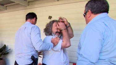 Peter Foster arrested by Byron Bay police at Ewingsdale on Tuesday.