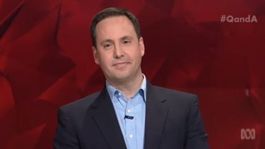 Government MP Steve Ciobo, who appeared on Q&A on Monday night.