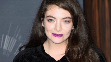 Lorde after her win at the MTV Video Music Awards.