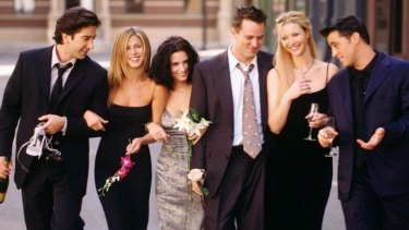 They'll be there for you: <i>Friends</i> is celebrating it's 20th birthday, (from left), David Schwimmer, Jennifer Aniston, Courteney Cox, Matthew Perry, Lisa Kudrow and Matt LeBlanc.