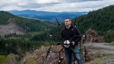 DroneSeed CEO Grant Canary, with drone.