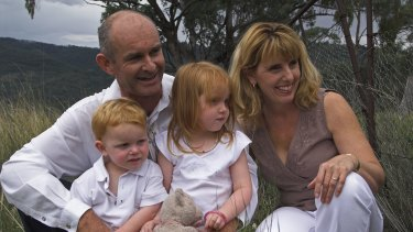 Glen Turner, his wife Alison McKenzie and their children Jack and Alexandra.