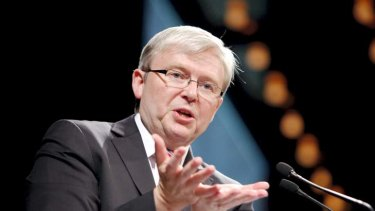 """It seems that Rudd's position on economics has changed dramatically in recent times."""
