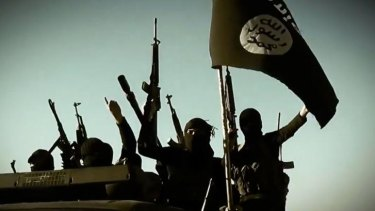 Islamic State fighters in Anbar province, Iraq.