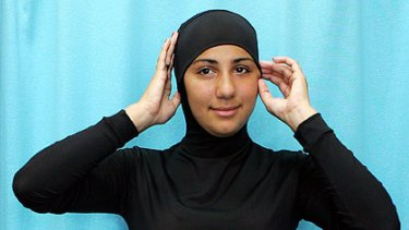 Suits you ... A model wears a 'burqini' swimsuit, designed by Australian Aheda Zanetti.
