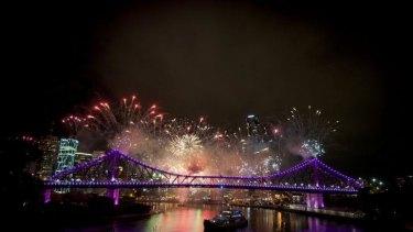 Brisbane Riverfire display.