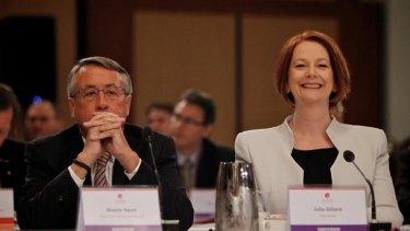 Prime Minister Julia Gillard and Treasurer Wayne Swan at the Tax Forum.