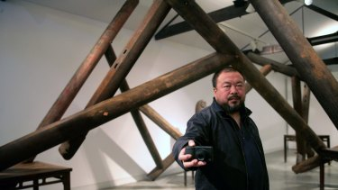 Chinese artist Ai Weiwei at Sydney's Sherman Gallery during a previous visit to Australia in 2008.
