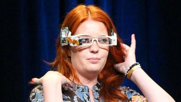 An early Google Glass prototype.