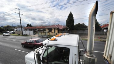 Locals living in the inner west have complained for years about the noise and pollution caused by an increase in trucks driving through residential areas such as Francis Street, Yarraville (above).
