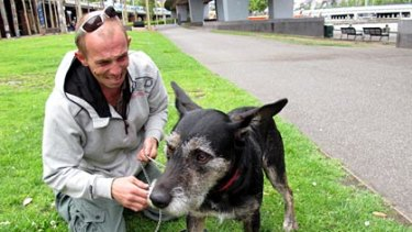Dougie Walker is reunited with his beloved dog Hooch today.