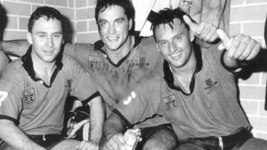 Stuart and Daley as NSW teammates in 1990.