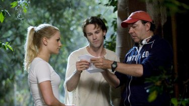 Alan Ball on the set of <i>True Blood</i>.