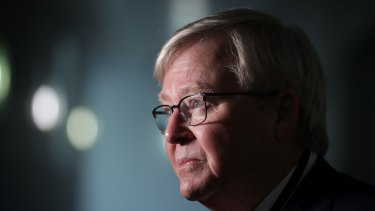 Former Prime Minister Kevin Rudd at Parliament House, Canberra