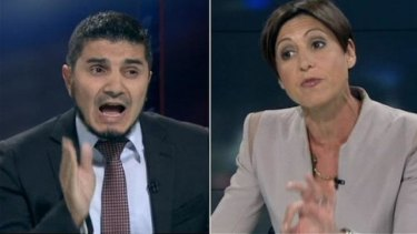 """""""The exchanges between Mr Doureihi and host Emma Alberici escalated unhelpfully into a slanging match that left audiences none the wiser about Hizb ut-Tahrir."""""""