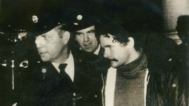 A step forward ... IRA leader Martin McGuinness leaves court in 1973.