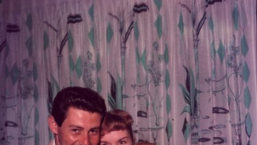Happy family: Eddie Fisher, Debbie Reynolds and daughter Carrie in 1957.