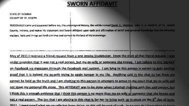 David's affidavit.