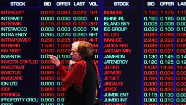The Australian sharemarket has wiped most of yesterday's gains, weighed heavily by the financial sector.
