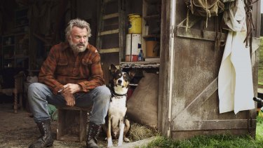Sam Neill as 'Uncle' Hec in <i>Hunt for the Wilderpeople</I>, one of the titles now available on Kanopy.