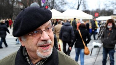 """Concern: Lithuanian Rimantas Gucas says  Russian President Vladimir Putin is a """"madman"""" who """"won't stop until he's stopped by force,"""" Gucas, 72, grew up under Soviet occupation."""