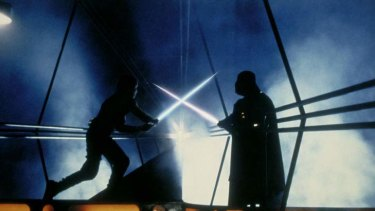 Luke Skywalker and Darth Vader square off in <i>The Empire Strikes Back</i>