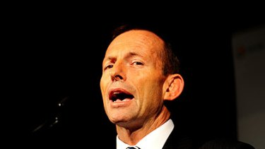 Shooting from the mouth ... Tony Abbott.