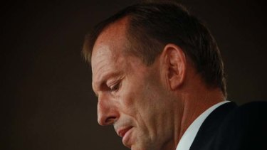 Image problem ... Tony Abbott's demonising of Julia Gillard may have come at a price.