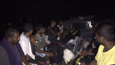 Asylum seekers are evacuated to Rote.