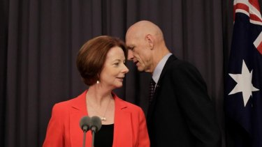 Julia Gillard and School Education Minister Peter Garrett at the Gonski review launch.