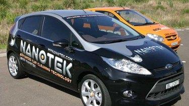 Nanotek franchisee cars have distinctive branding.