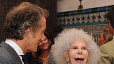 Exchanging vows ... Spain's Duchess of Alba and her new husband Alfonso Diez.
