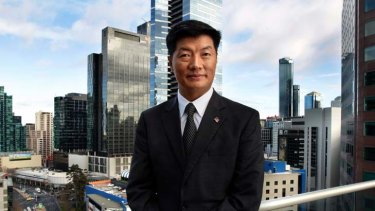 Building relationships … Lobsang Sangay in Melbourne.