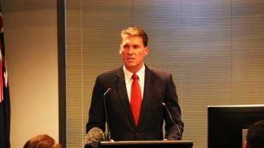 Independent senator Cory Bernardi spoke at the anti-halal fundraiser in Melbourne on Friday.