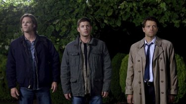 Supernatural's Sam (Jared Padalecki), Dean (Jensen Ackles) and Castiel (Misha Collins) contemplate the end of the world. Again.