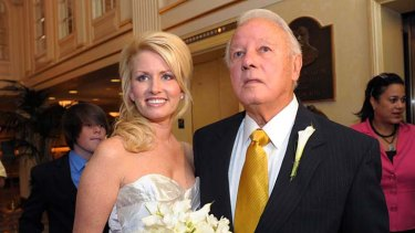 Newlyweds ... Edwin Edwards and Trina Grimes Scott.
