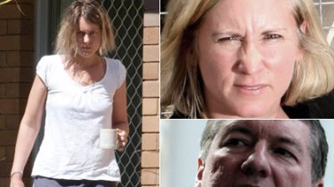 Love triangle ... Kate Neill, in Brisbane on Friday, went public about her affair with former health minister John Della Bosca, who is married to federal MP Belinda Neal.
