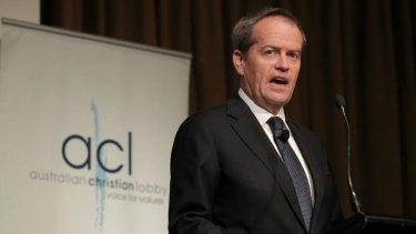 Bill Shorten addresses the Australian Christian Lobby conference.