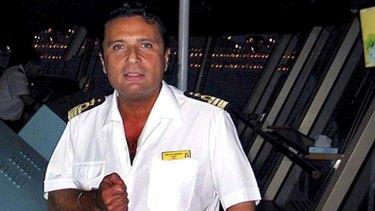 Not wearing his glasses ... Captain Francesco Schettino.