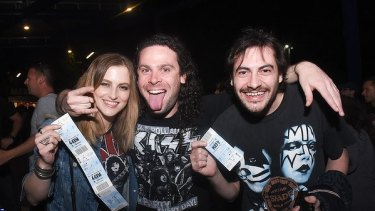 The Perth Kiss Army welcomed their glam rock idols in the appropriate attire.