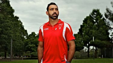Speaking out: Adam Goodes, who is a White Ribbon ambassador, opposes changes to the Racial Discrimination Act.