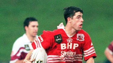 Back in the day ... Luke Patten in action for the Steelers.