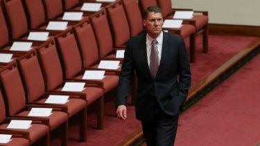Liberal senator Cory Bernardi during the opening of the 45th Parliament.