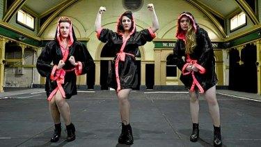 Strike a pose: Zoey Dawson, Anna McCarthy and Ella Harvey perform in <i>Madonna Arms</i>.