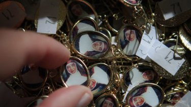 Badges at Mary MacKillop Place in North Sydney.