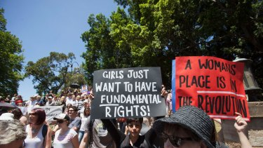 Women of all ages and walks of life took part in the Sydney march.