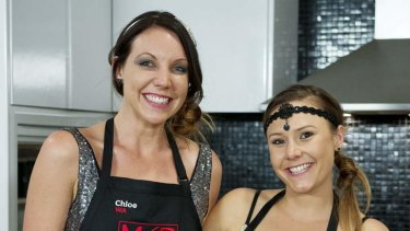 Finalists ... My Kitchen Rules team Chloe James and Kelly Ramsay (pictured, from left), from Western Australia, will cook off in the final against South Australian mums Bree May and Jessica Liebich.